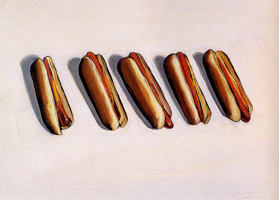 Wayne Thiebaud - Hot dogs