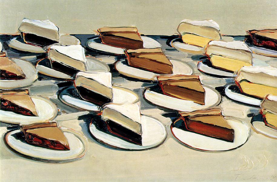 Wayne Thiebaud -  Pies pies pies - 1961
