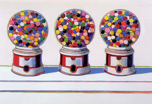 'Three Machines' (1961) - Wayne Thiebaud