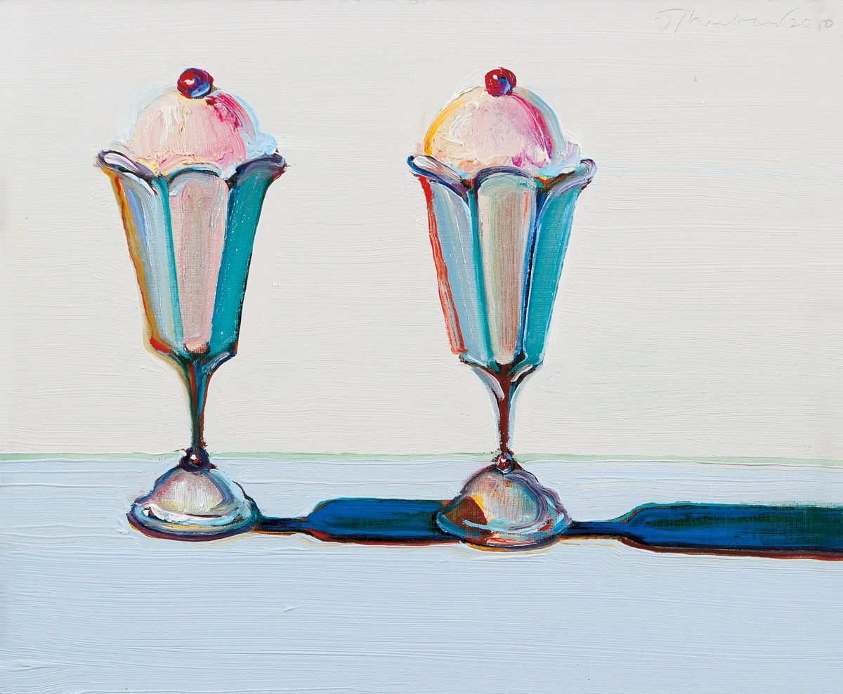 Wayne Thiebaud-Tulip Sundaes - 2010