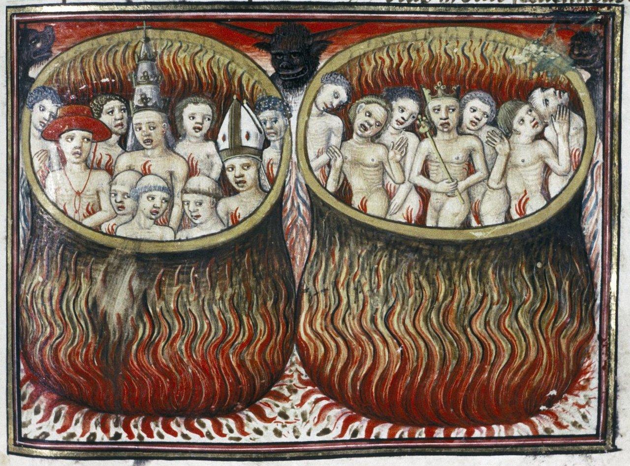 Ilustración de 'Livre de la Vigne nostre Seigneur'. Manuscrito francés fechado entre 1450 y 1470