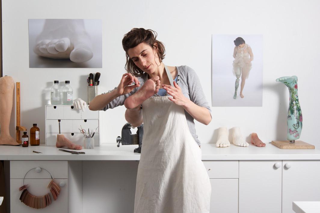 Sophie de Oliveira Barata en su estudio
