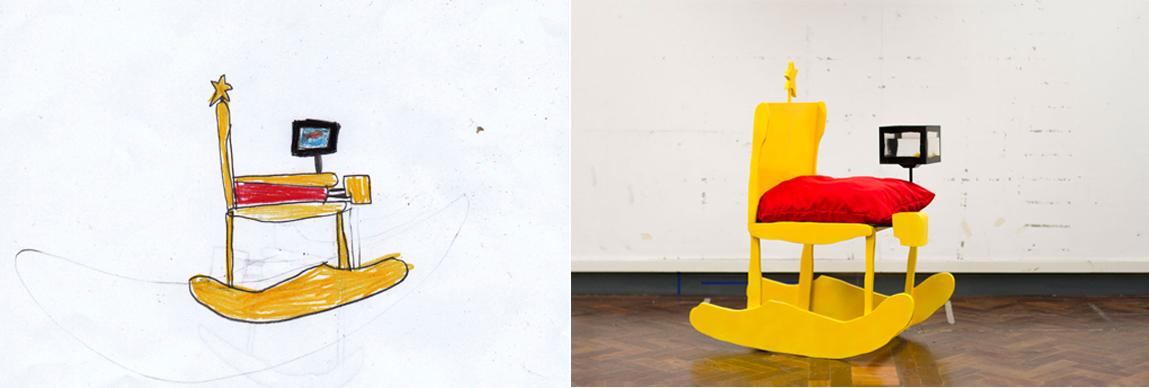 Dibujo infantil y mueble creado por Beveridge y Lake