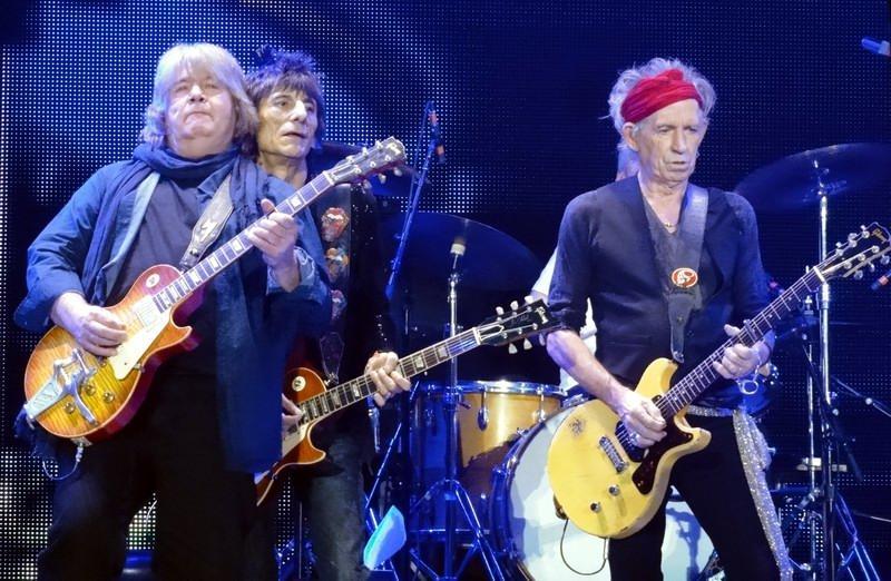 Taylor en su reencuentro con los Stones en 2012