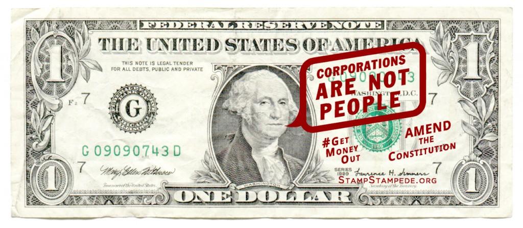 'Las corporaciones no son personas'