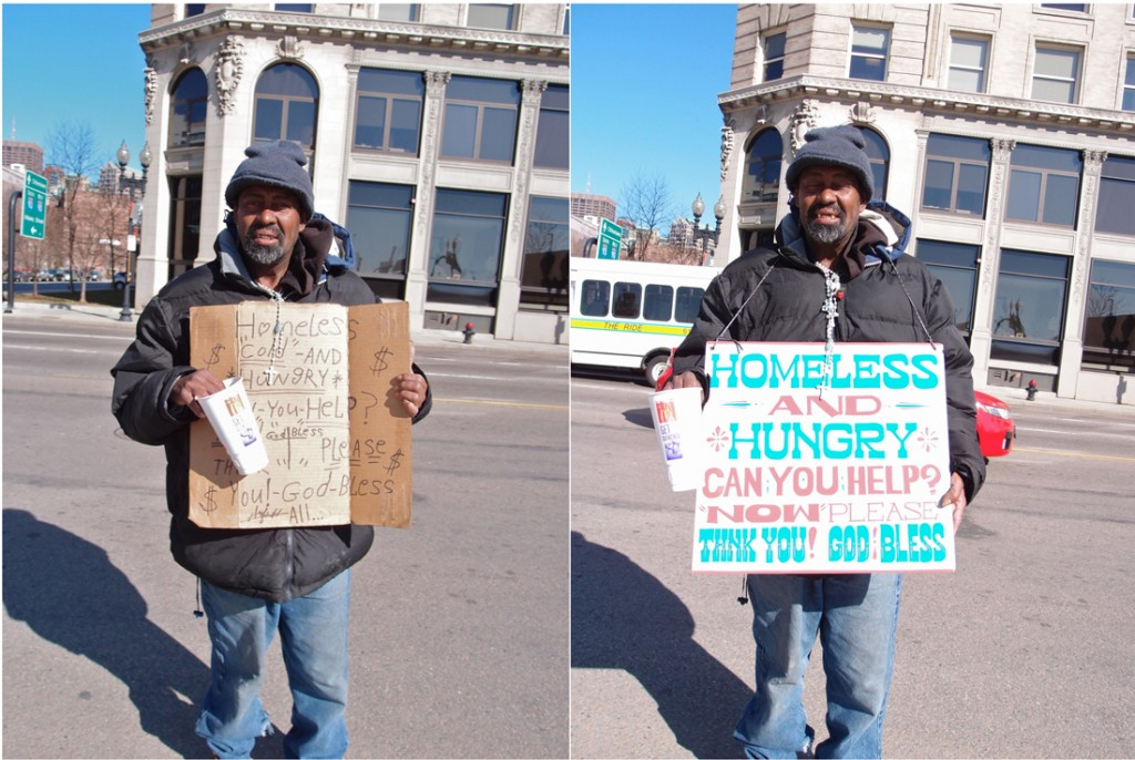 Alberto - 'Signs for the Homeless'