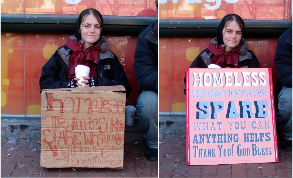 Colleen - 'Signs for the Homeless'