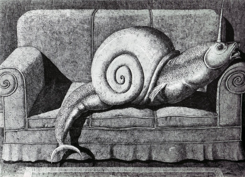 Domenico Gnoli - fish-snail