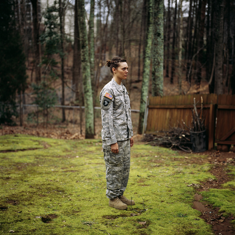 Wearing army uniform for me, Kennesaw, Georgia, 2008   © Guillaume Simoneau