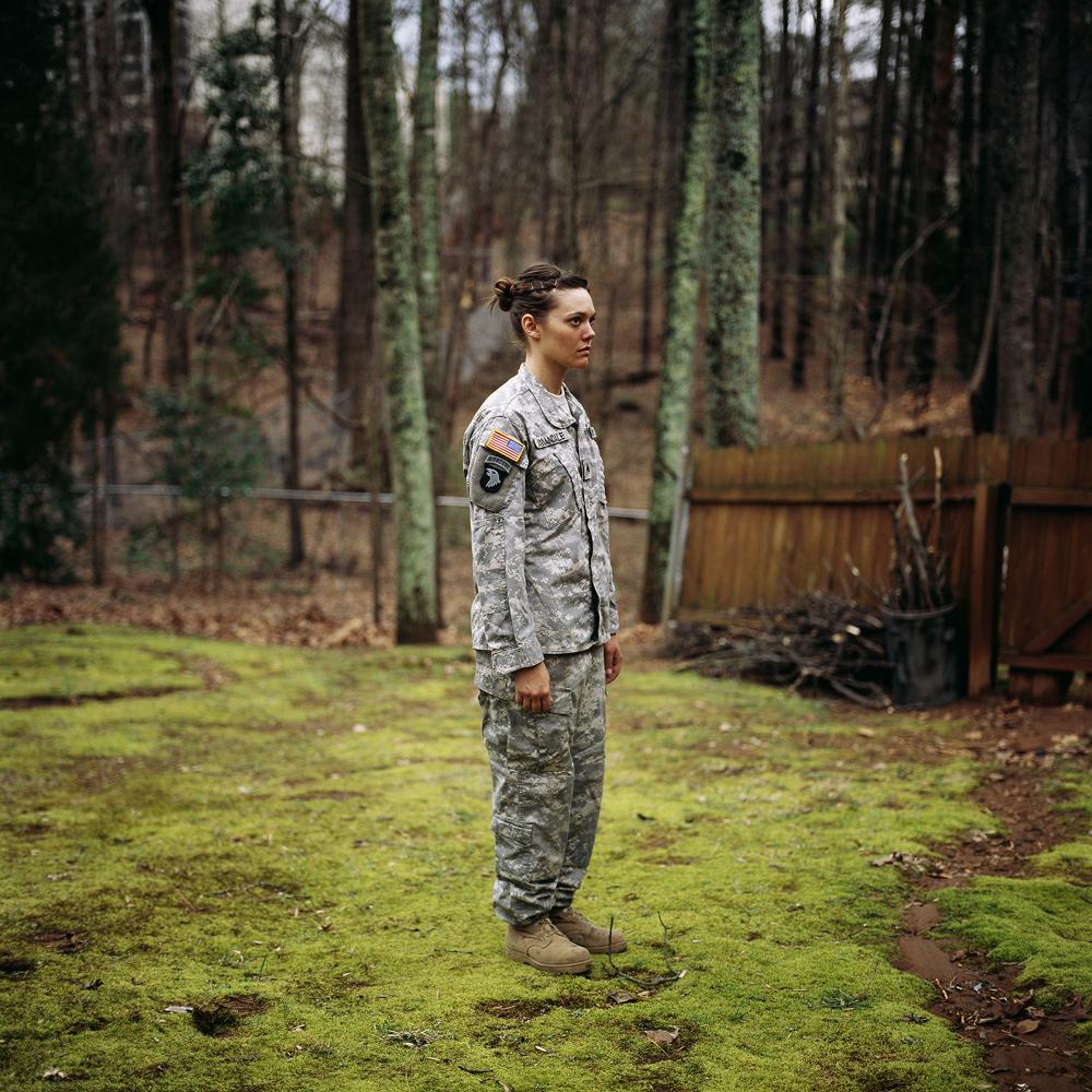 Wearing army uniform for me, Kennesaw, Georgia, 2008   © Guillaume Simoneau