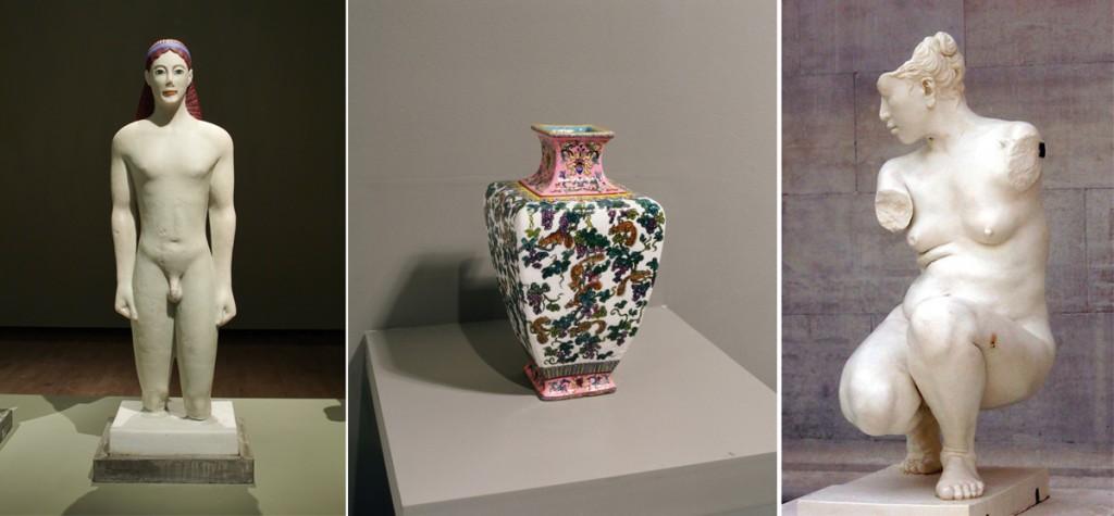 Tres esculturas de Meekyoung Shin