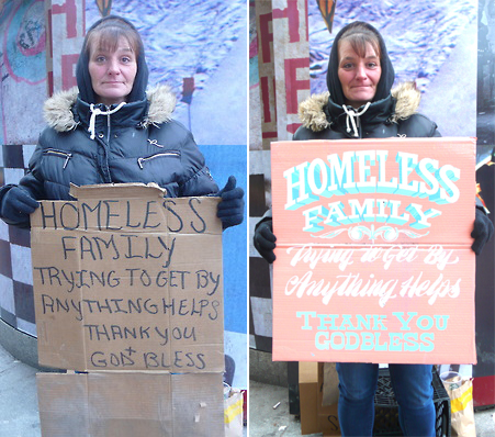 Susan J. - 'Signs for the Homeless'
