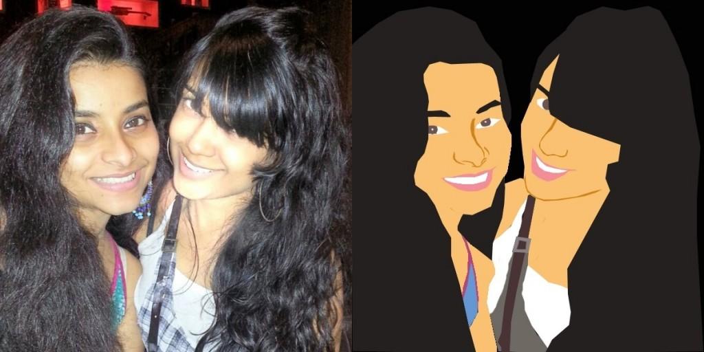 Aayusha (Maharashtra, India) y una amiga retratadas por Armada (Lisboa, Portugal)