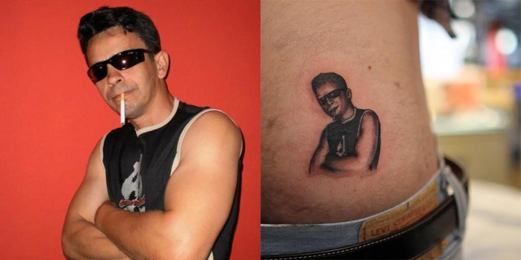 Amarildo de Sao Paulo (Brasil) convertido en el tatuaje de Joey de California (EEUU)