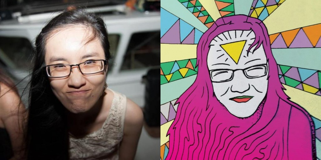 Kim de Singapur retratada por Shaun de California (EEUU)