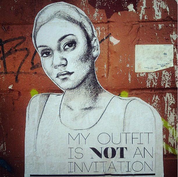 'Mi atuendo NO es una invitación'