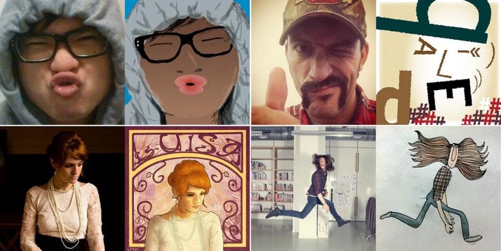 Cuatro fotos de perfil 'versionadas' en 'Selfless Portraits'
