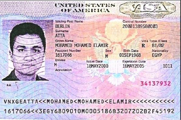 Visa de los EE UU de Mohamed Atta