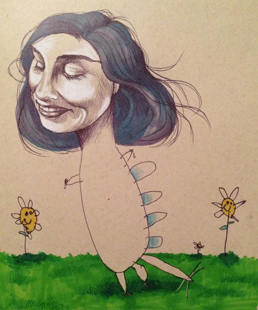 La primera 'colaboración' de la ilustradora y su hija
