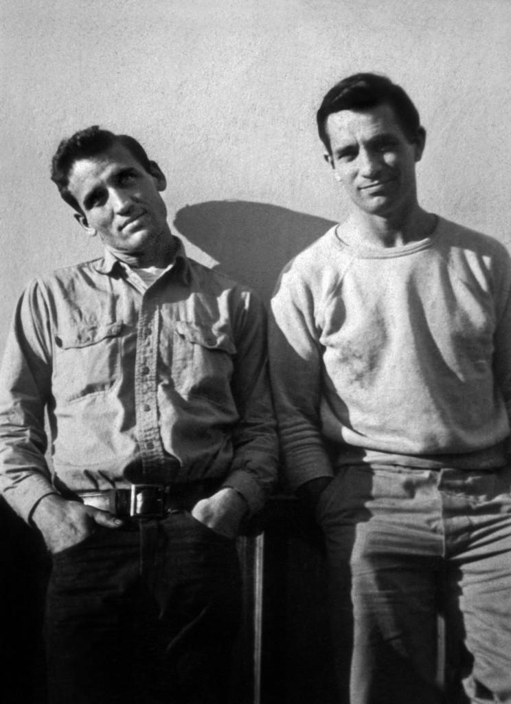 Cassady (izquierda) y Kerouac, retratados por Carolyn Cassady en 1952
