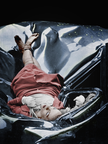 El cadáver de Evelyn McHale coloreado a posteriori – Foto: