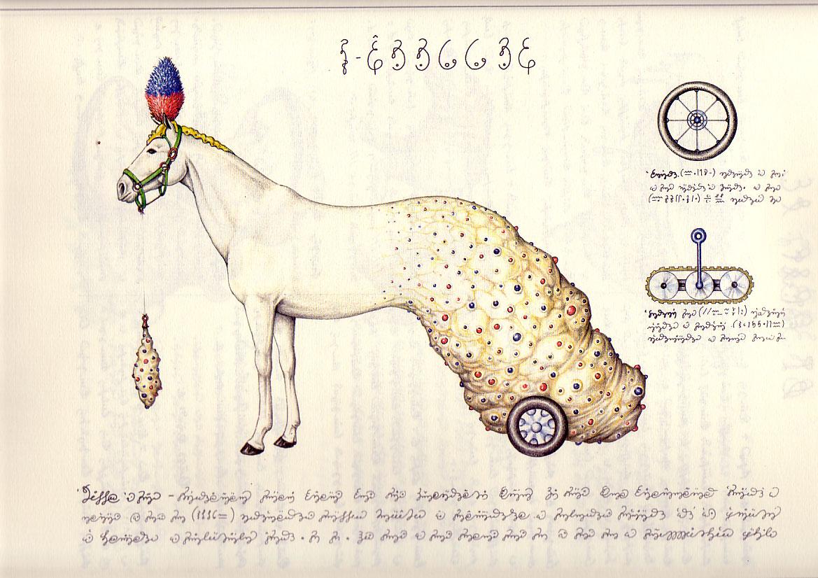 Lámina del Codex Seraphinianus. Fuente: 20 Minutos