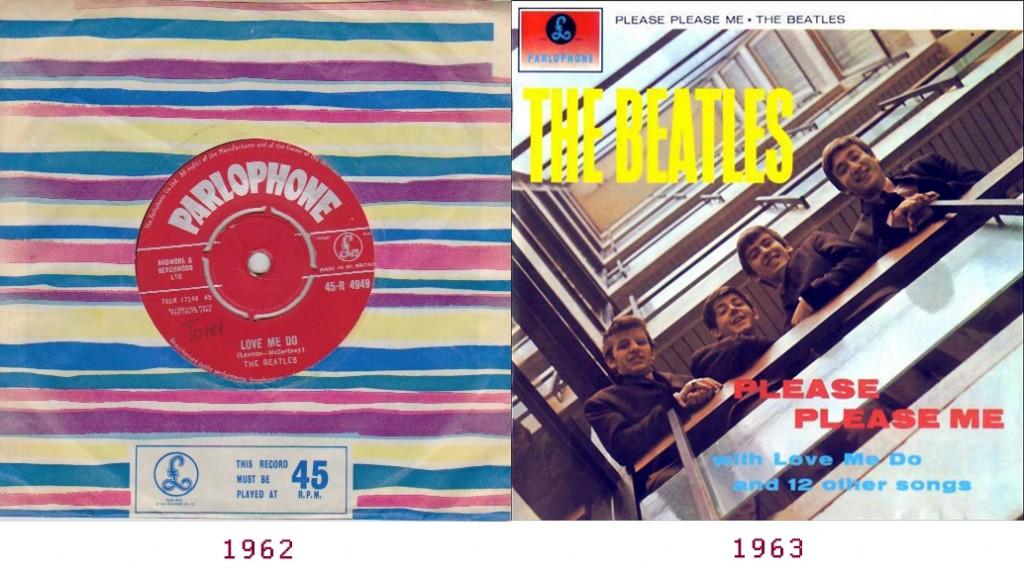 Primer disco (1962) y primer álbum (1963)
