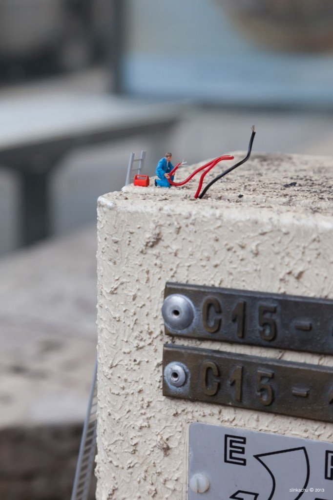 'Why is it so hard to find a job?' - 'Electrician' - Slinkachu