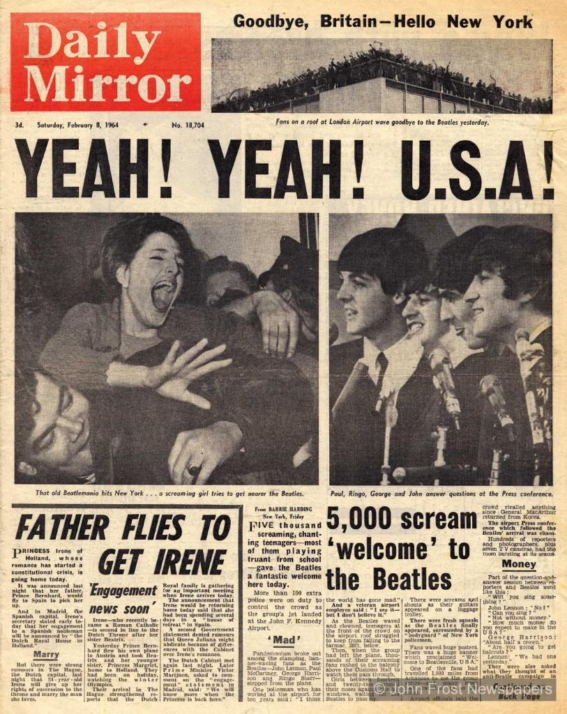 La beatlemanía llega a los EE UU
