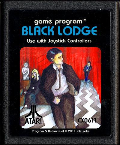 El supuesto cartucho para Atari 2600 del videojuego 'Black Lodge'
