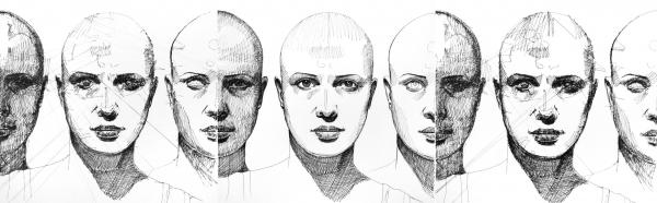 """'Eugenia', el """"dibujo híbrido"""" de Kiessling y sus dos robots"""