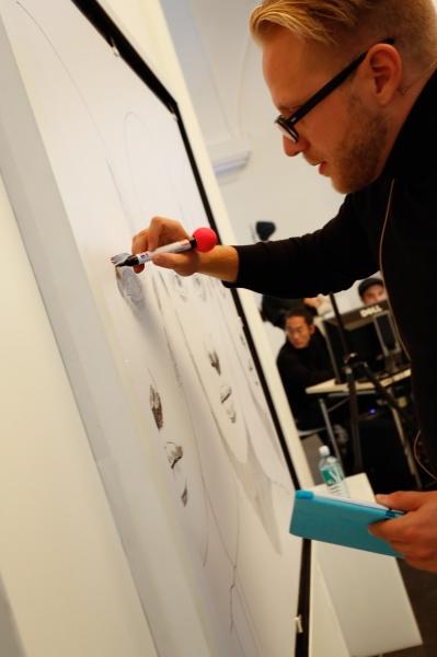 Kiessling en Viena durante la acción artística