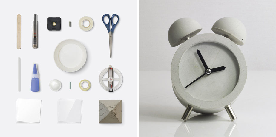 'Concrete Alarm Clock' - HOBBY:DESIGN