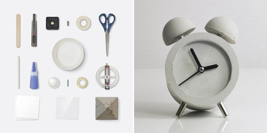 'Concrete Alarm Clock' - HOBBY:DESIGN