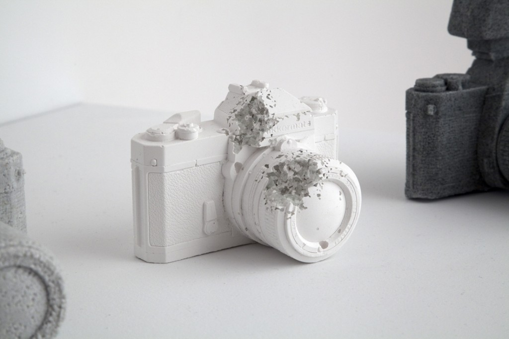 'Eroded Camera', 2012 - Daniel Arsham