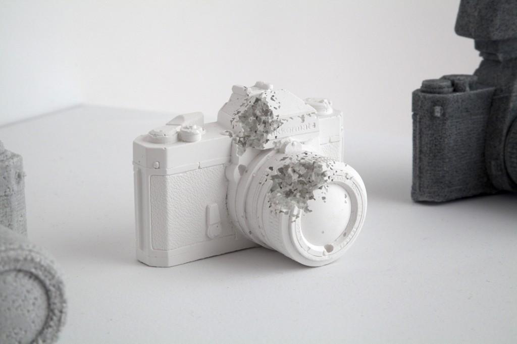 'Eroded Camera', 2012 - Daniel Arsham
