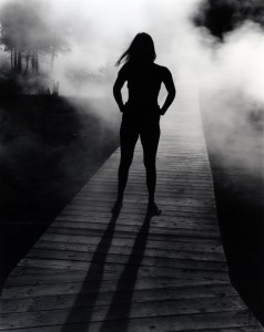 Self-portrait with mist © Judy Dater