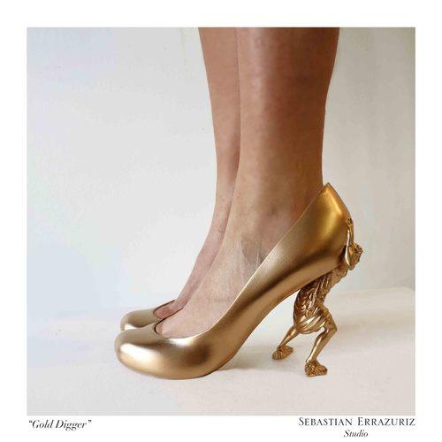 Shoe 3 - 'Gold Digger' - Sebastian Errazuriz