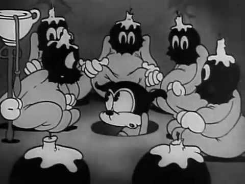 Bimbo con los miembros de la logia