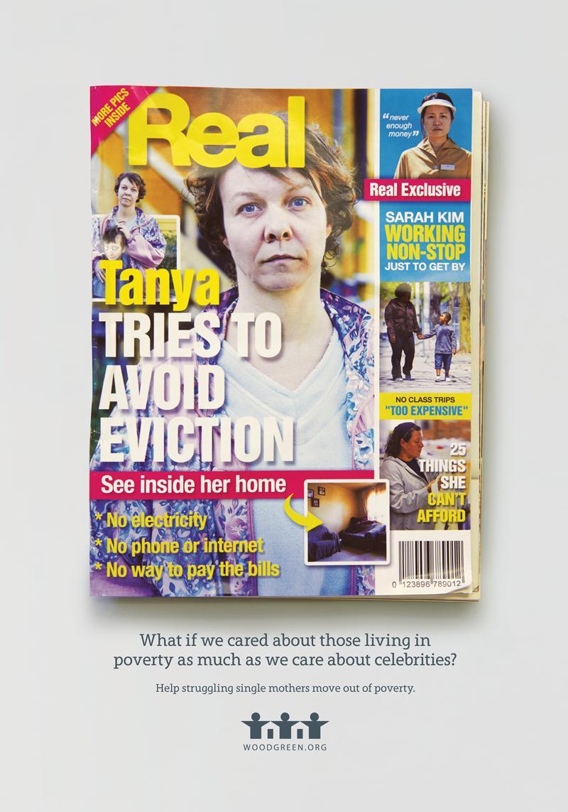 Una de las portadas de revista ficticias de la fundación canadiense