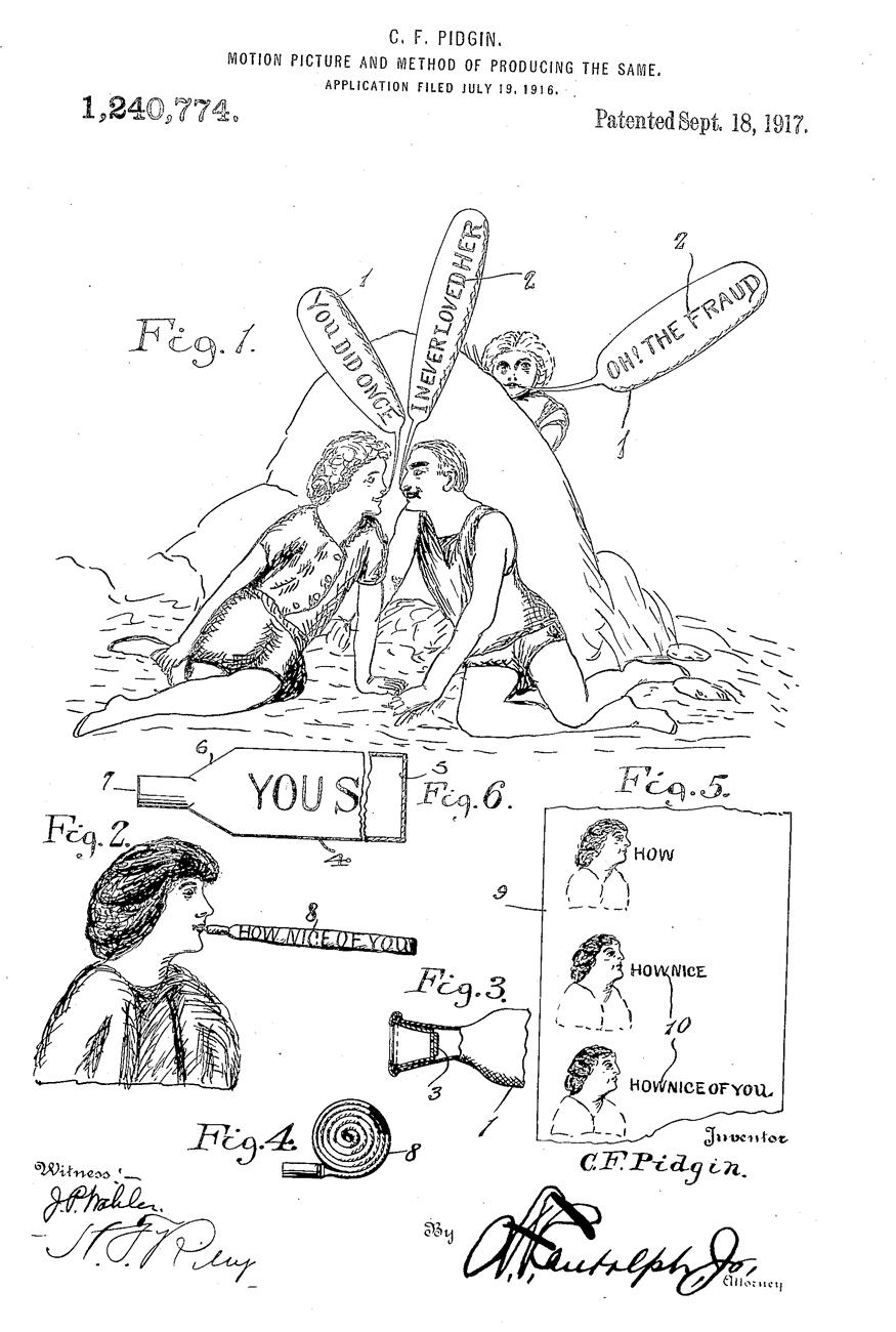 Ilustración de la patente de Pidgin
