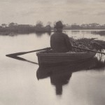 "Peter Henry Emerson - ""Rowing home the Schoof-Stuff from Life and Landscape on the Norfolk Broads"", 1886"