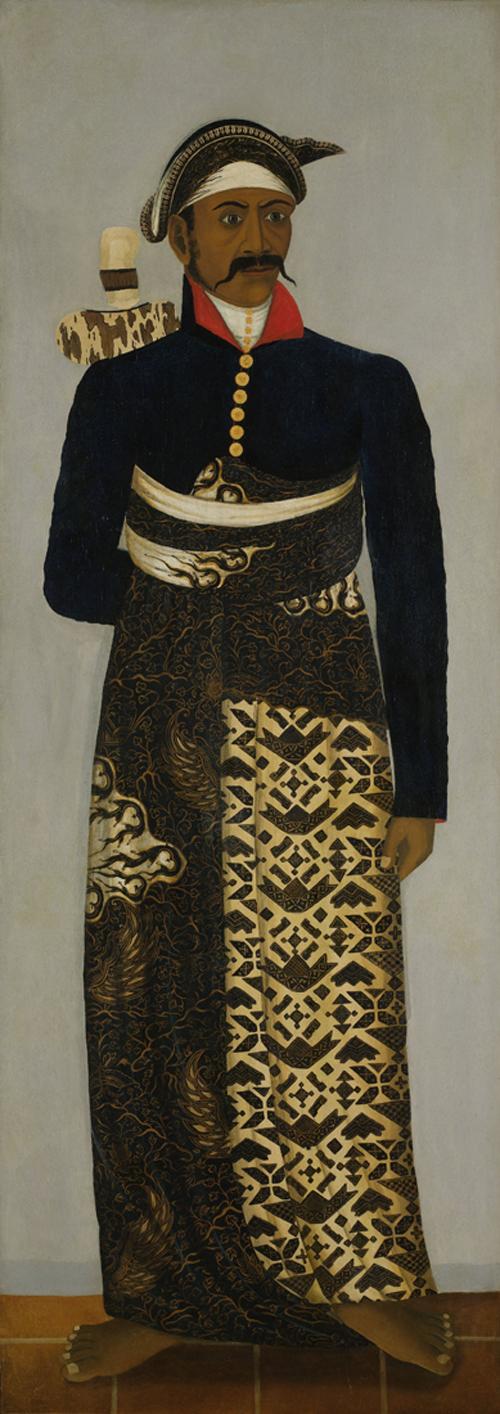 Retrato a un oficial de la corte de Java. Obra de autor anónimo y datada entre 1820 y 1870