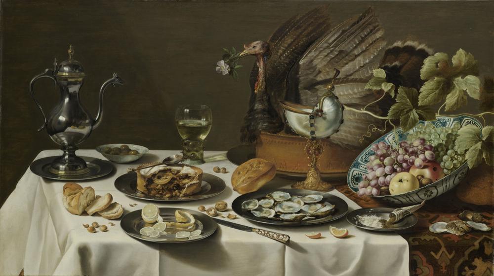 'Naturaleza muerta con pastel de pavo' (1627), obra de Pieter Claesz
