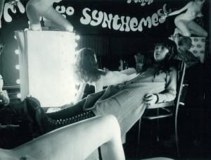 """En el set de """"La naranja mecánica"""", 1969"""