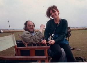 """Con Stanley Kubrick en el rodaje de """"La chqueta metálica"""", 1986"""