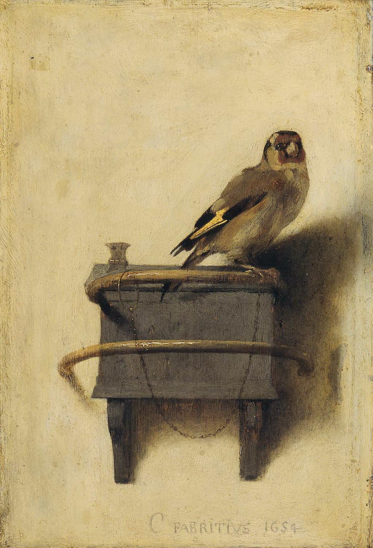 """Het puttertje"" (El jilguero) - Carel Fabritius, 1654"