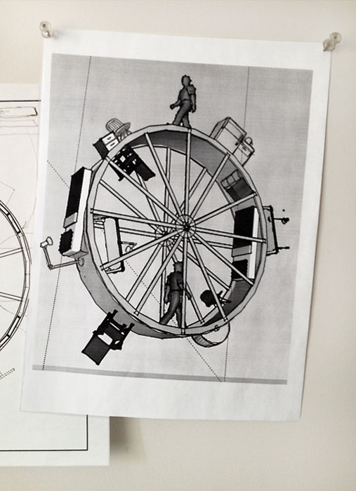 Boceto del proyecto 'In Orbit'