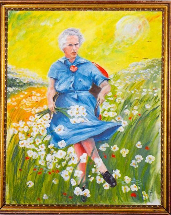 'Lucy en el campo con flores', la obra fundadora de la colección del MOBA