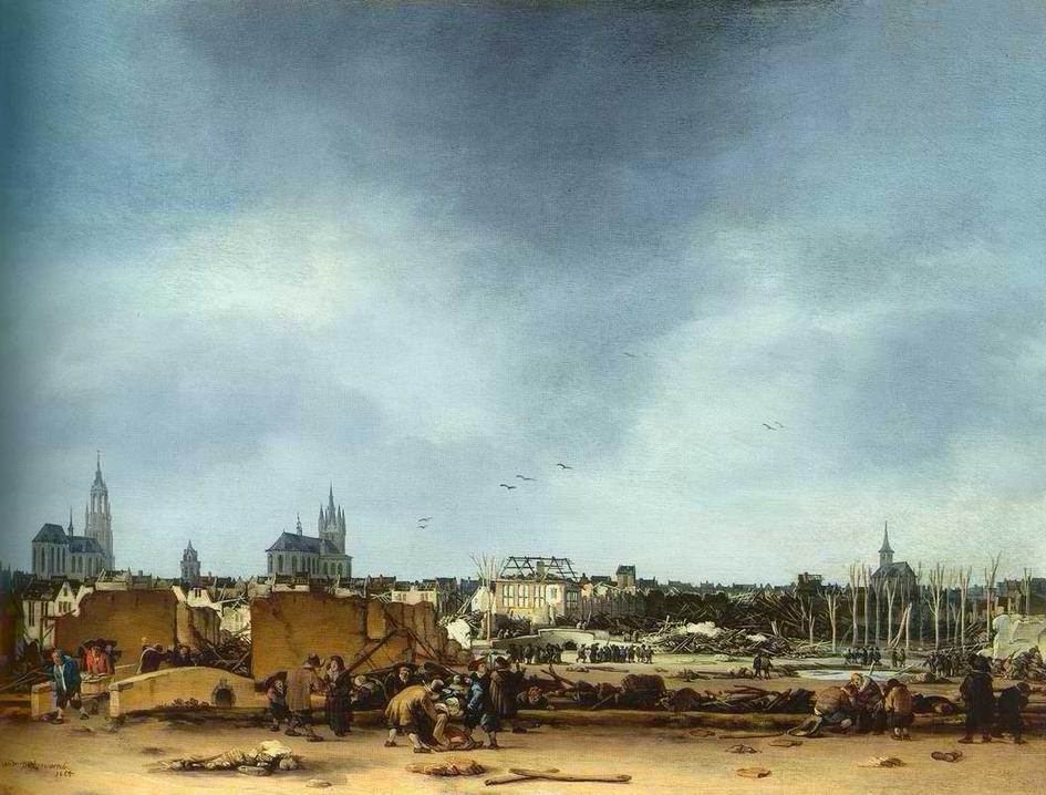 "Egbert van der Poel - ""Delft Explosion of 1654"", ca. 1654"